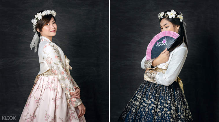 ผู้หญิงสวมชุดฮันบก